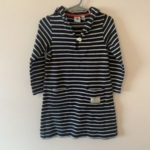 Petit Bateau Stripped Navy Dress Size 3T